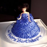 "Brianna's 9Th Birthday Doll cake iced with cream cheese buttercream made with the new no trans-fat Crisco.The new Crisco made the icing ""slippery"". It..."
