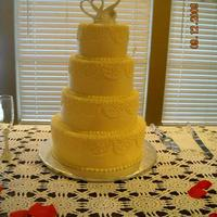 My First Wedding Cake!  Wow! I actually pulled it off. I'm still in shock and this was several weeks ago. LOL! I'm SOOOO thankful that the bride's...