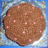 Eggless Flower Shaped Chocolate Cake Eggless Chocolate Cake with Buttercream Icing and Pink Sugar Hearts