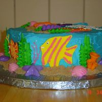 Side View Of Under The Sea Cake
