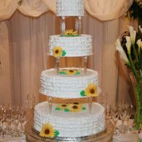 Sunflower Wedding Cake   My first wedding cake