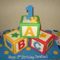 Blocks   Buttercream with mmf accents and duck.