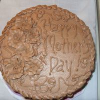 Mother's Day A last minute cake for my family...choc. cake with cannoli filling and choc. BC. It was really yummy! TFL
