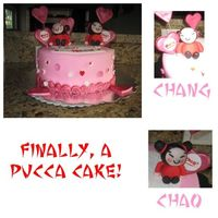 Pucca Cake I have been wanting to make a pucca cake for a long time. Finally, got to make one for MYSELF this year! LOL Thanks for looking!