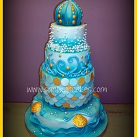 Ocean Theme Wedding Cake