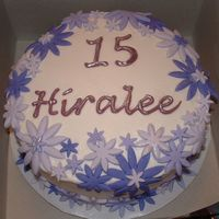 Purple Flowers BC with fondant accents