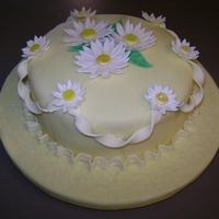 Hat Cake Made in Wilton 4 Course to look like a Spring Bonnet. All decorations were made with fondant and gumpaste.