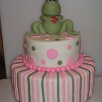 Frog Prince First time to make a figure. Thank you to tuggy for the great inspiration. The frog is gumpaste molded over rice crispy treats. It was for...