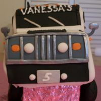 Stretch Hummer Limo Hummer cake made for my friend's daughter's 5th b-day. Made a sheet cake, then cut it in half, stacked for main body. 1/4 sheet...
