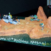 "Surface Of Mars This cake was made for my friends son who wanted the surface of mars for his lego ships. It's frosted in buttercream, I made ""..."
