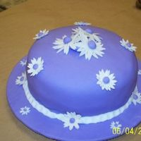 Stephs First Fondant Cake   This is my daughters first fondant cake from class