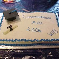 Graduation Cake Fondant cap and scroll