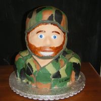 Alyssa's Soldier The hubs did this one (4Gifts4Dennis :D) The little girl wanted a soldier cake, so he obliged. I think he may have a career...and we make a...