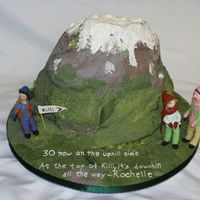 Killi Walking Cake made for Rochell's 30th bithday which she celebrated by trekking at Killi