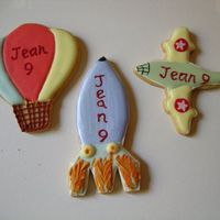 Aircraft And Flight Cookies cookies made with run out icing and writing