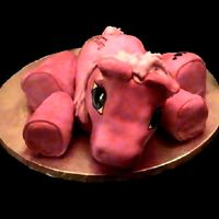 My Little Birthday Pony Cake :)  This was a special request. Vanilla cake w/ fruit punch filling. Fondant covered. this cake was pretty good sized it is set up on a 16&quot...
