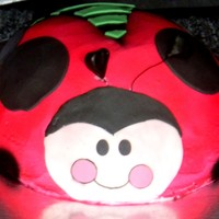 Oh So Sweet Ladybug Big Cake  Large vanilla cake w/bc frost. fondant accents to match party theme. TFL extra shot is of the little tiny smash cake that I did with the...