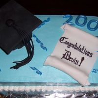 2007 High School Graduation Cake - Another View Another view of my 2007 graduation cake.