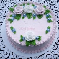 Pinkwhiteroses1.jpg Pale pink with white and pink roses, and delphinium blue 106 drop flowers ~
