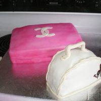 Chanel Shoe Box And Small Purse