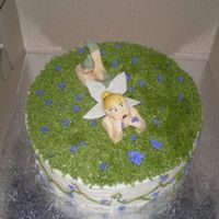 Tinkerbell A thinkbell cake made for a client's daughter. I doctored a box mix for this cake as the girl desperately wanted a rainbow chip cake....