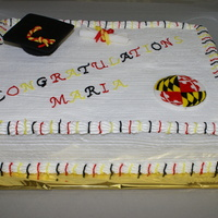 For University Of Maryland Graduate Everything is edible. Painted the logo on a plaque.