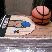 Basketball Its a groom's cake for my SIL's wedding. I didn't get to put the basketball stand, as it wasn't proportional to the...