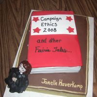 Judge Turns 50 OUR DISTRICT JUDGE TURNED 50. HER LAST CAMPAIGN WAS PRETTY NASTY...ERGO THE TITLE OF THE RED BOOK.