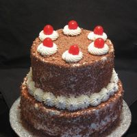 Two-Tiered Black Forrest Birthday Cake