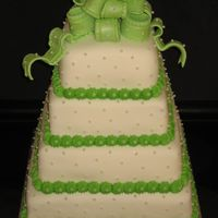 Square Pearl Wedding Cake