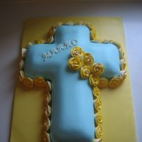 Christening Cross Cake
