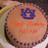 Auburn Birthday Cake This is a chocolate cake with chocolate buttercream decorated in Auburn colors, I really thought it was going to be ugly but it did not...