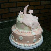 Pink And White Polka Dot Baby Shower Cake This is a pink and white Polka Dot Baby Shower cake, the custome was very specific in what she wanted except for the the topper , so I just...