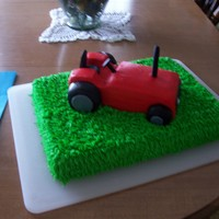 Tractor Tractor cake for my Father's 65th birthday. Supposed to be a Farmall