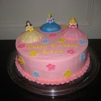 Princess Birthday Cake  Cake for a friend's daughter's 3rd birthday. I took the easy way out and used a the Disney Princess DecoPak. SMBC, Fondant...