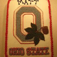 Osu Graduation Go Bucks....need I say more? All buttercream icing.