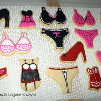 Lingerie Shower   Another group of cookies for the shower