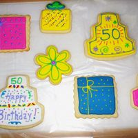 50Th Birthday Cookies   Gift for my friends birthday.