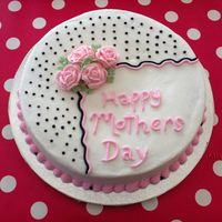 "Mothers Day   Design was copied from a cake by Cakery in the gallery. 10"" carrott cake"