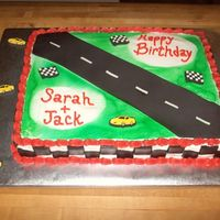 Speed Racer Cake  Credit goes to aandecake, nefcook21 and kjt. Thanks for the inspiration. I had a friend order Speed Racer theme and panicked until I saw...
