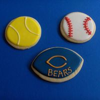 Sports Cookies   I sold these at a craft fair recently.