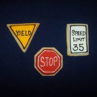 Traffic Sign Cookies   I brought these to my graduation of our local Citizens Police Academy. They were well received by the officers!