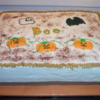 Halloween Sheet Cake