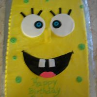 Sponge Bob This was a butter cream cake accented with fondant. I used a dowel covered in fondat for the nose.