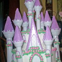 Princess Castle Cake This cake was done for fun. It was a lot of work, but also a lot of fun
