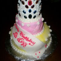Lizz_Cake.jpg This cake was done for our health assistant at our elementary school. We call her Princess Lizz