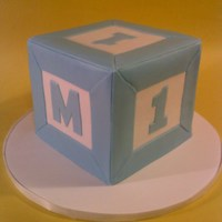 Baby Block Cake 6x6 Baby block for a 1st birthday smash cake.