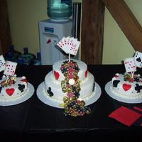 16Th Birthday Casino My nephew had a casino party, joint party with a friend from school. Buttercream icing with MMF shapes. This was inspireed by 2 different...