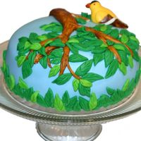 Bird In A Tree   MM Fondant cake