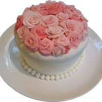 Rose Cake   Fondant Covered Cake with Fondant Roses